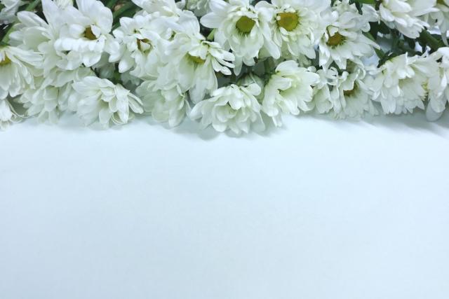 葬儀の時の花