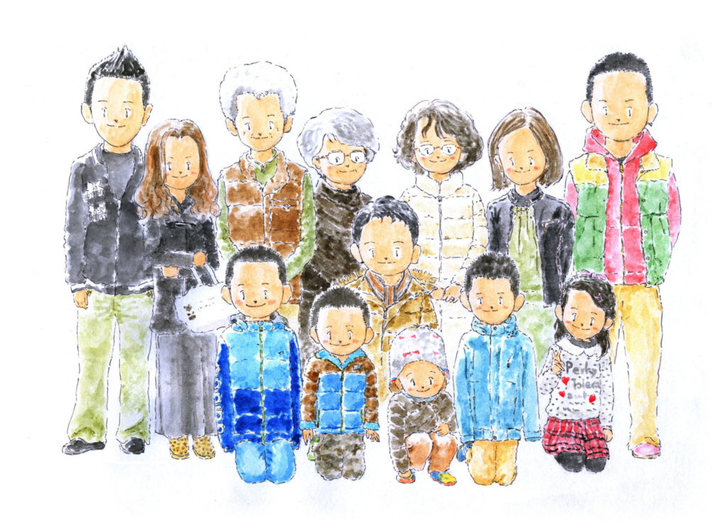 相続人になる可能性のある親族の写真